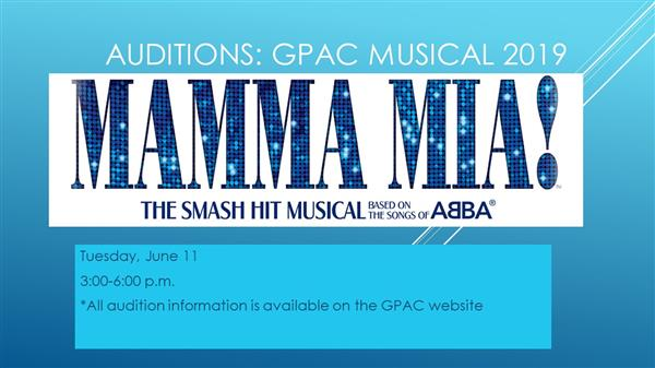 Mamma Mia! Groves HS- Auditions