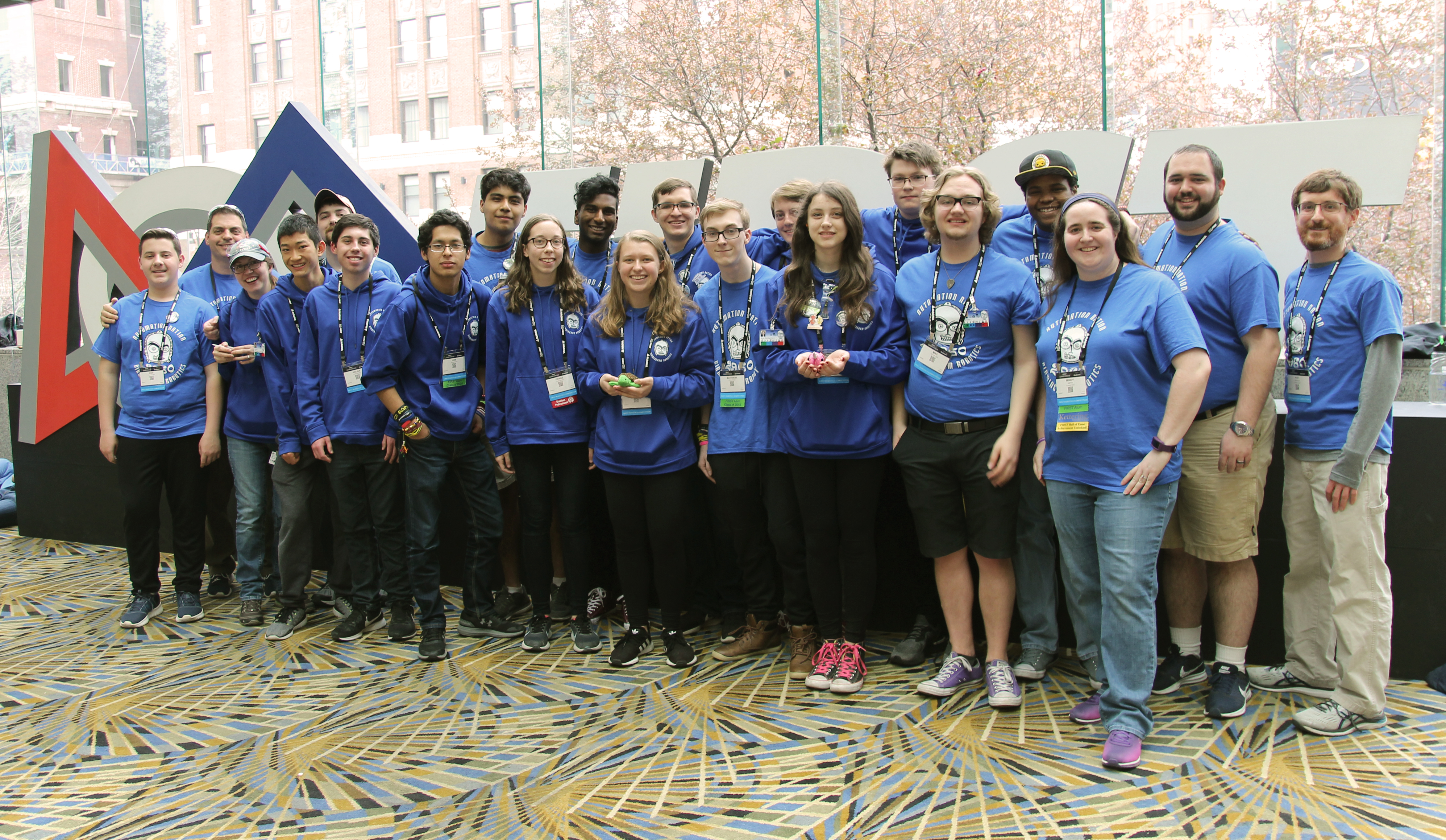 7ea8bbbe2a58 They competed at the FIRST Robotics World Championship, held at Cobo Hall  and Ford Field in Detroit, MI, April 25-27. The team was in the Carson  Division, ...