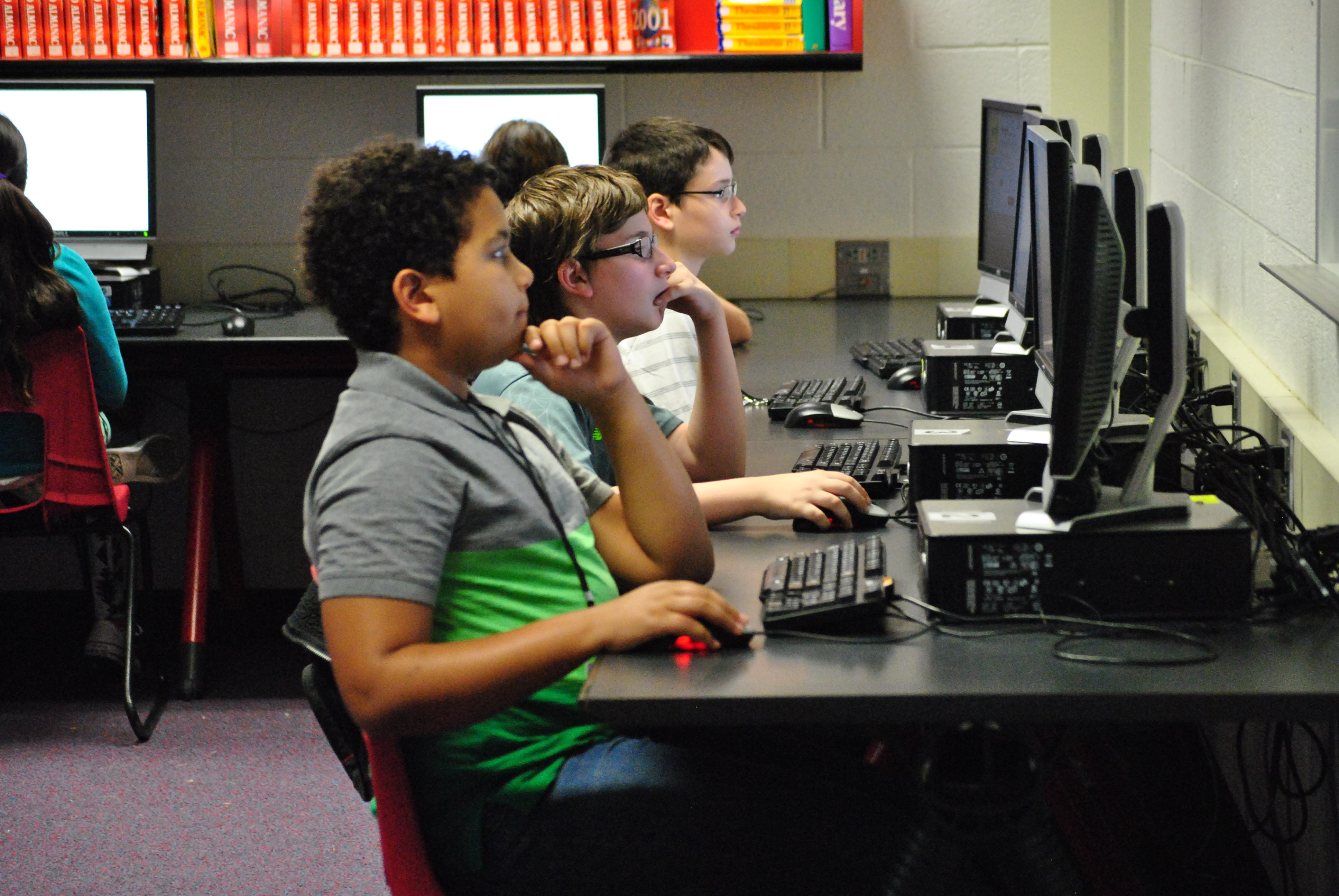 Berkshire Students in Computer Lab