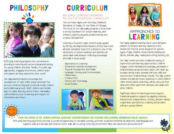 Preschool / Preschool Brochure
