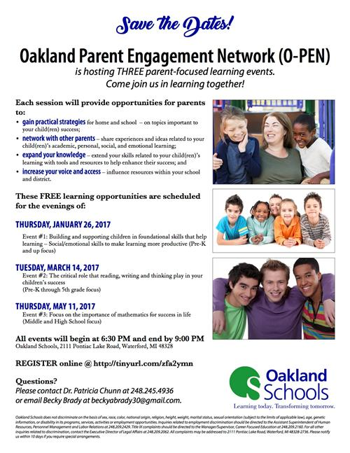 Parent Engagement Network Flyer